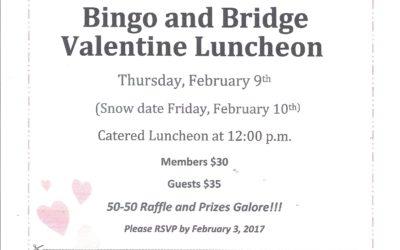 Philanthropic Bingo and Bridge Valentine Luncheon